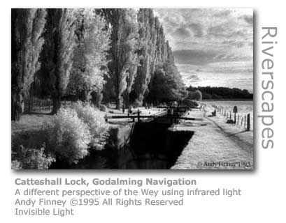 Andy Finney's infrared image of Catteshall Lock