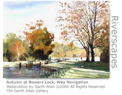Garth Allan Watercolour of Bowers Lock