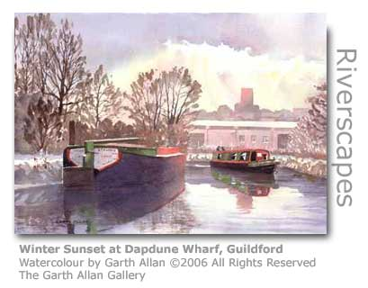 Garth Allan's Watercolour of Dapdune Wharf