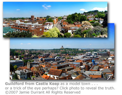 Guildford as toytown by Jamie Durrant