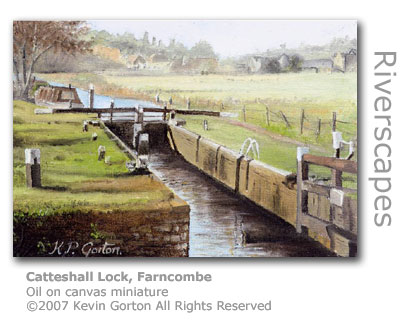 Catteshall Lock by Kevin Gorton
