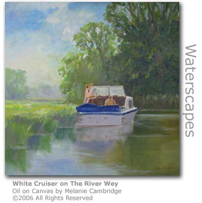White Cruiser on the River Wey by Melanie Cambridge