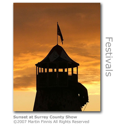 Sunset at Surrey County Show by Martin Finnis