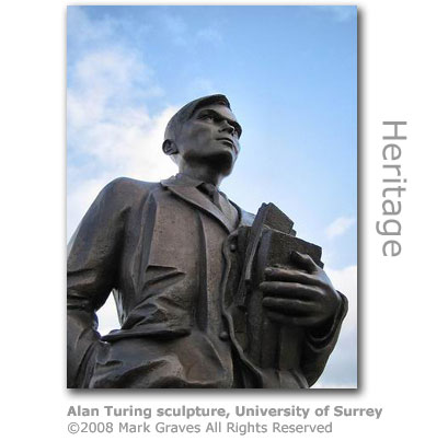 Alan Turing sculpture University of Surrey by Mark Graves