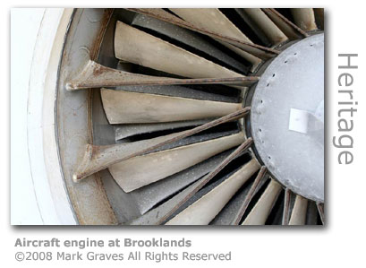 Aircraft engine at Brooklands by Mark Graves