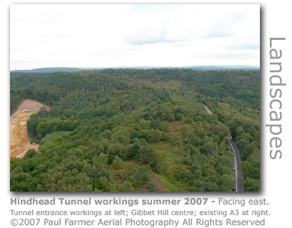 Hindhead Tunnel aerial photo by Paul Farmer