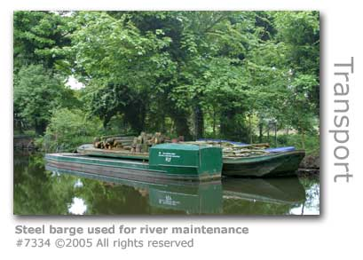 RIVER MAINTENANCE BARGE