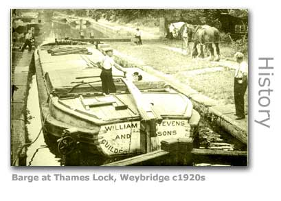 THAMES LOCK BARGE