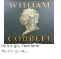 WILLIAM COBBETT PUB SIGN