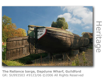 The Reliance barge Dapdune Wharf