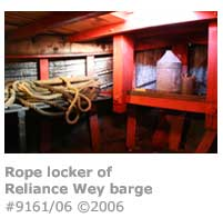 Barge rope locker