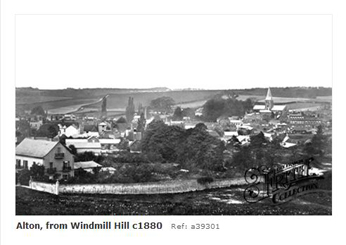 Alton from Windmill Hill 1880