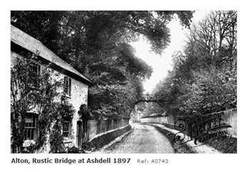 Alton Ashdell rustic bridge 1897