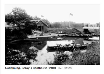 Farncombe Boathouse 1955 near Godalming