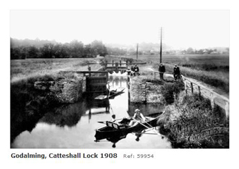 Farncombe near Godalming Catteshall Lock 1908