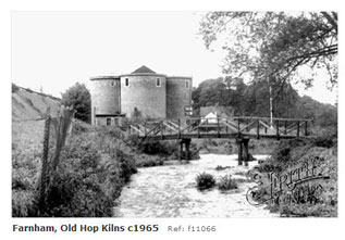 Hop Kilns at Farnham 1965