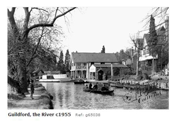 Boating on the River Wey, Guildford 1909