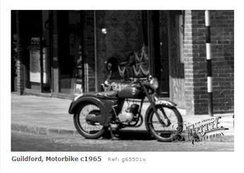 Motorcycle in Guildford 1965