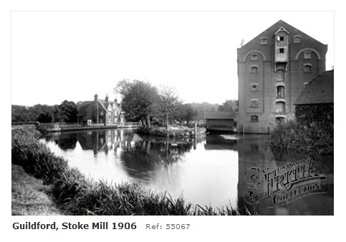 Stoke Mill, Guildford wey Navigation 1906