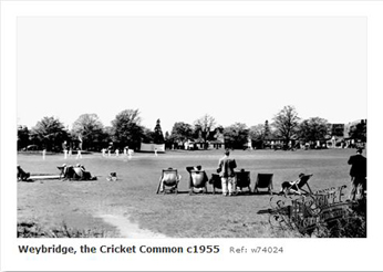 Weybridge Cricket Green 1955