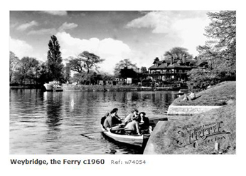 Weybridge ferry 1960