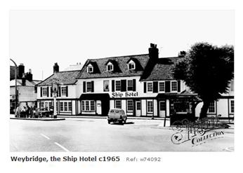 weybridge Ship Hotel 1965