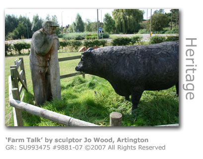 Farm Talk sculpture at Artington