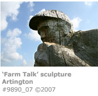 'Farm Talk' sculpture at Artington