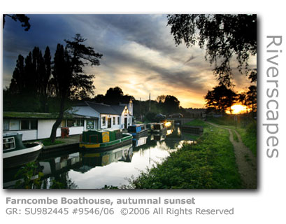 Farncombe Boathouse - autumnal sunset