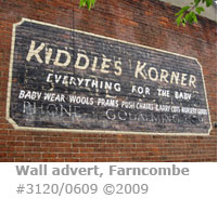 Old wall retail advertisement in Farncombe