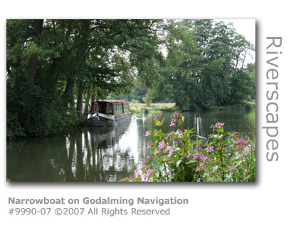 Narrowboat on Godalming Navigation