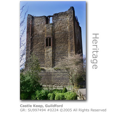 Norman castle keep, Guildford