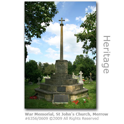 War Memorial, St John's Church, Merrow