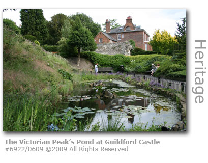 The Victorian Peak's Pond at Guioldford Castle, Surrey