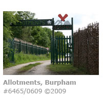 Allotment entrance Burpham, Guildford
