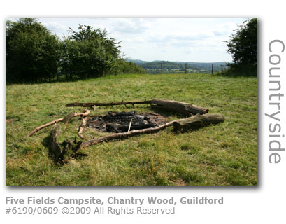 Five Fields Campsite, Chantry Wood, Guildford