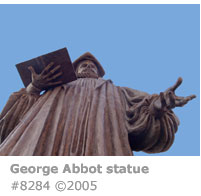 George Abbot statue
