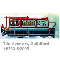 River tile art