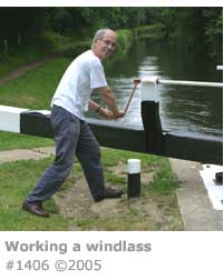 WORKING A LOCK WINDLASS