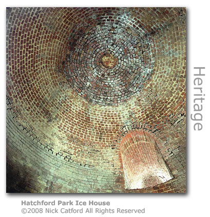 Hatchford Park Ice House Dome by Nick Catford
