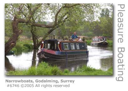 NARROWBOATS ON GODALMING NAVIGATION