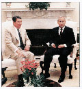 Oleg Gordievsky with President Reagan
