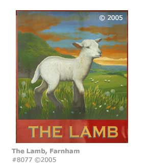 THE LAMB PUB SIGN