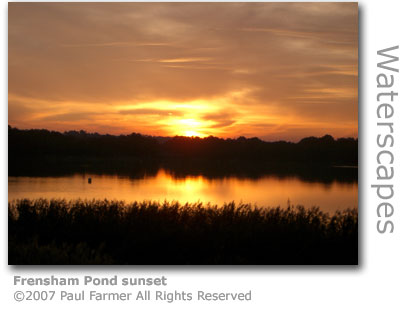 Frensham Pond sunset by Paul Farmer