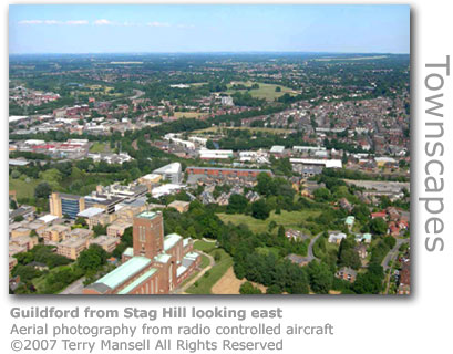 Guildford from Stag Hill looking east by Terry Mansell