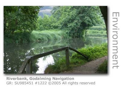RIVERBANK AND TOWPATH GODALMING NAVIGATION