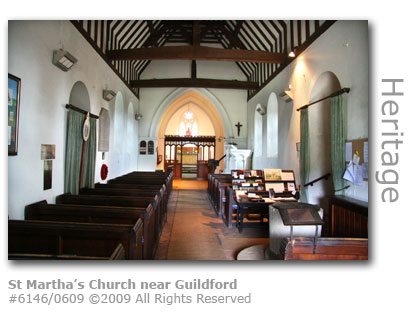 Interior of St Martha's Church near Guildford
