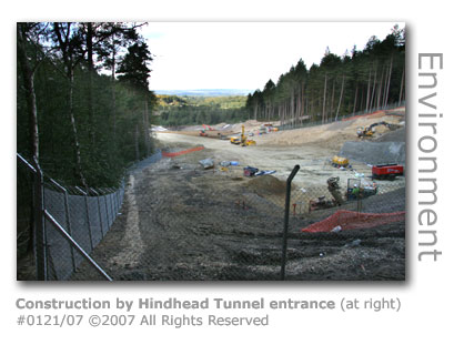 Hindhead Tunnel construction