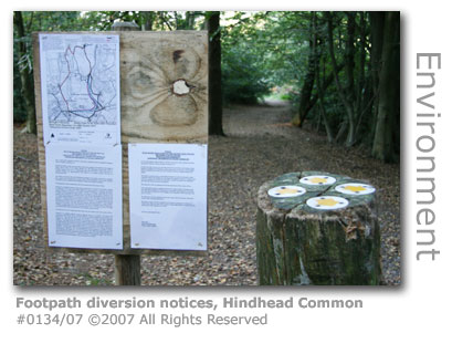 Footpath diversion notices, Hindhead Tunnel
