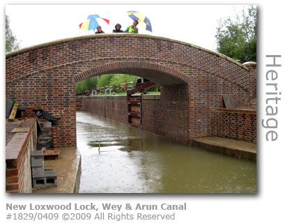 The new Loxwood lock on Wey & Arun Canal
